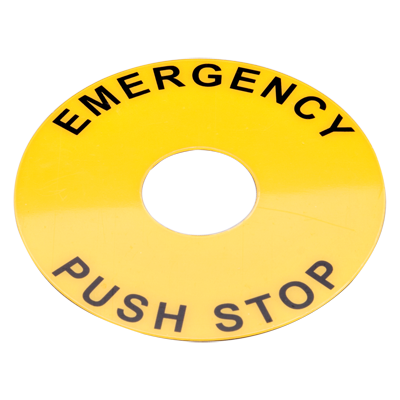 22mm Push Button Switch Legend Plate E Stop Legend Plate