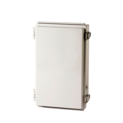 "BOXCO Enclosure, PC, Gray color, Molded hinge & latch, W6.30 x L10.24 x D3.94"" , NEMA 4X"