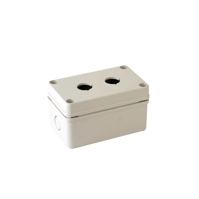 22mm BOXCO Switch Box, 2 switch holes, ABS, Gray Color, Lift-Off Screw Cover, W80 x L130 x D70mm